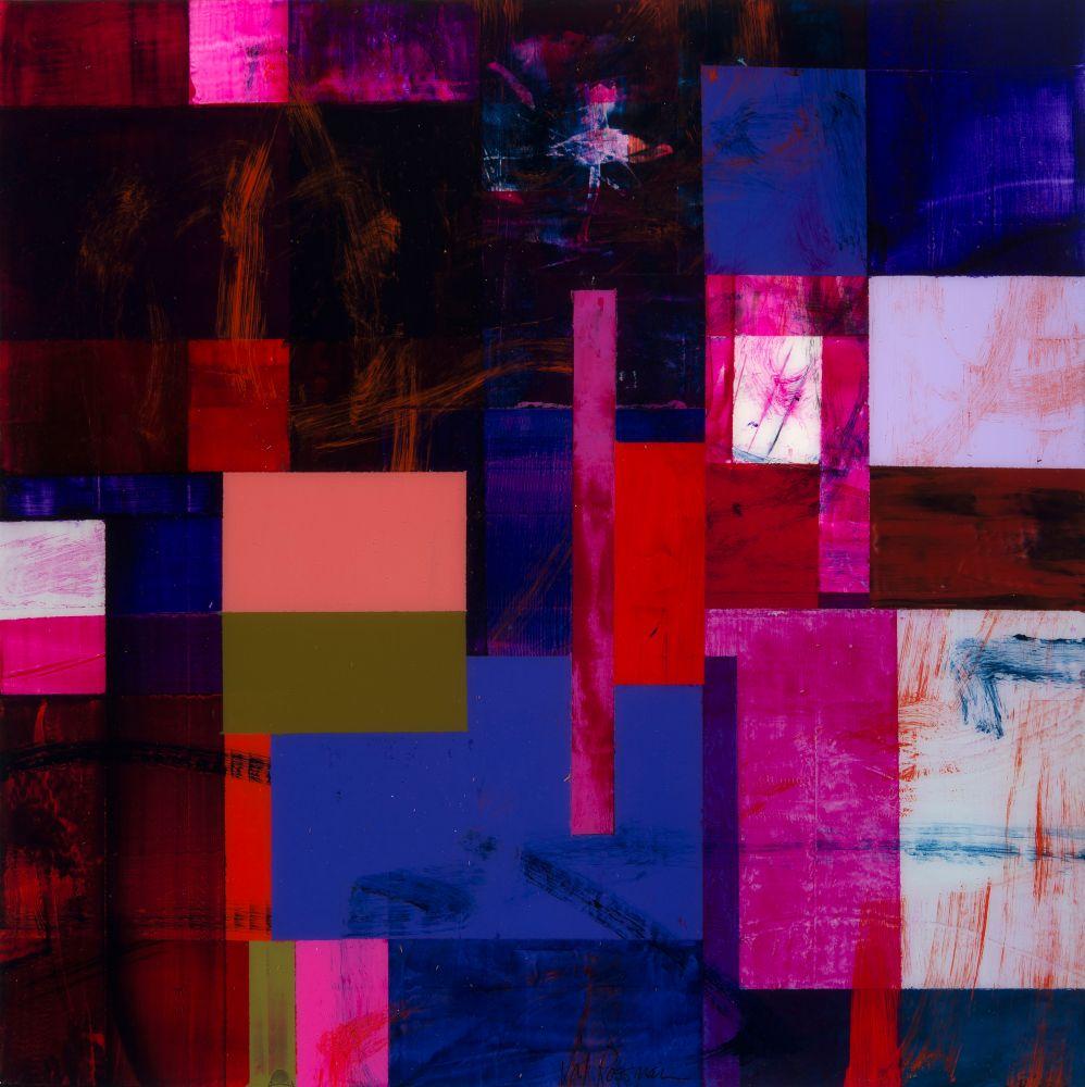"""Val Rossman, Rarely Found 12"""" x 12""""  Acrylic On Aluminum"""