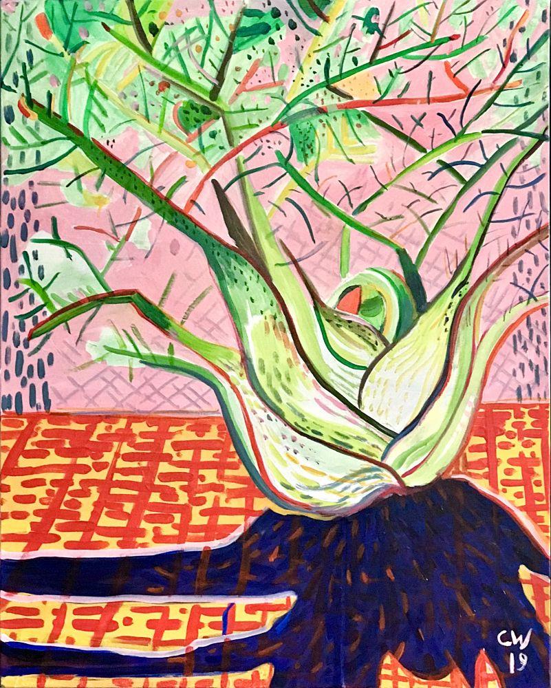 Curtis Wallin, Finocchio  30″ x 24″  Acrylic On Canvas