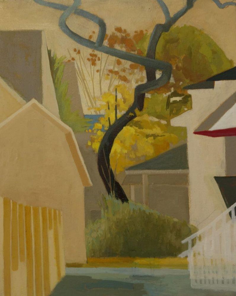 Celia Reisman, S Tree  20″ x 16″  Oil On Canvas