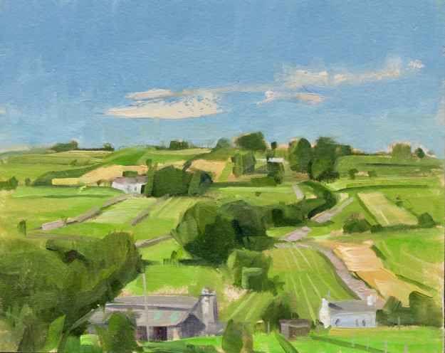 Jeffrey Reed, Lachen Hill  6″ x 7.5″  Oil On Panel