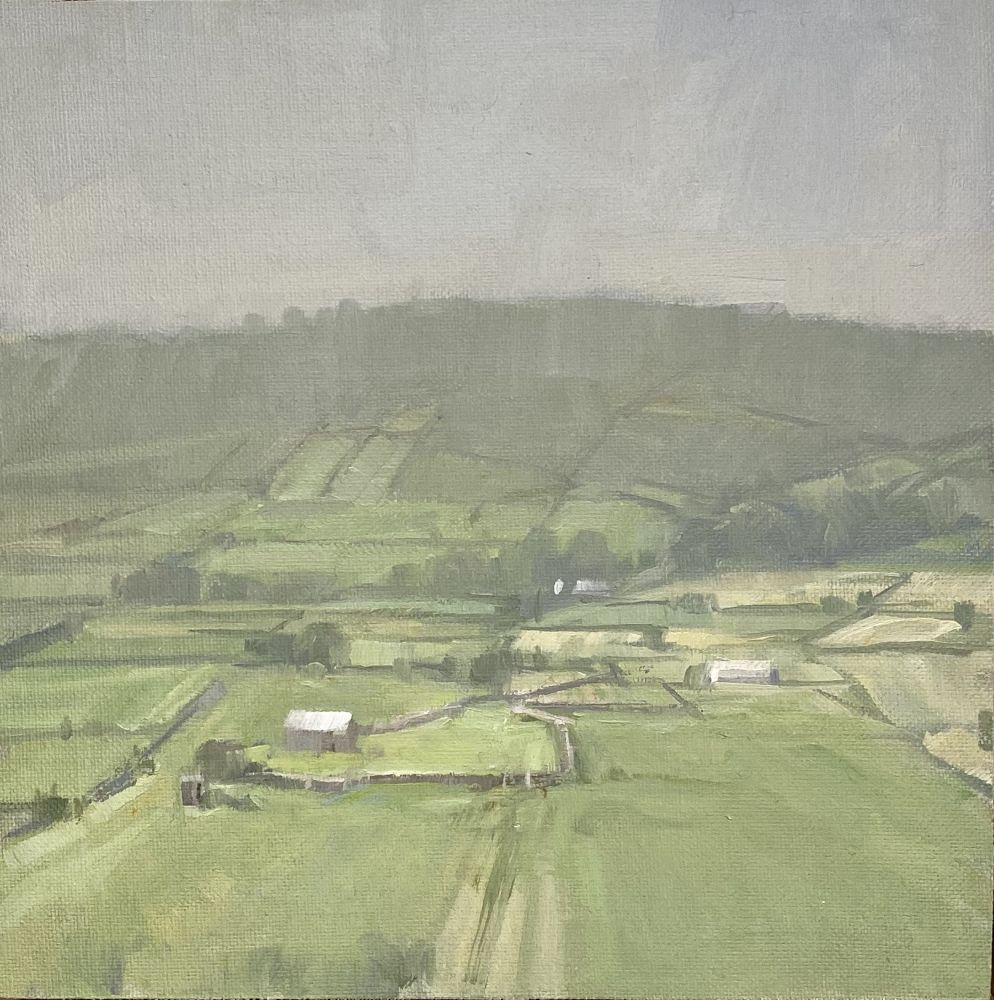 Jeff Reed, Round Field, oil on panel, 8 x 8 inches