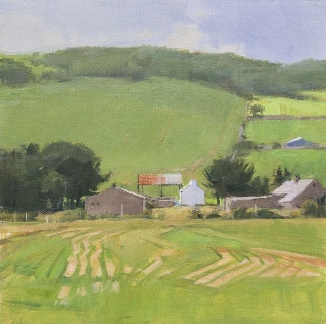 Jeff Reed, Ballycastle Field, oil on panel, 8 x 8 inches