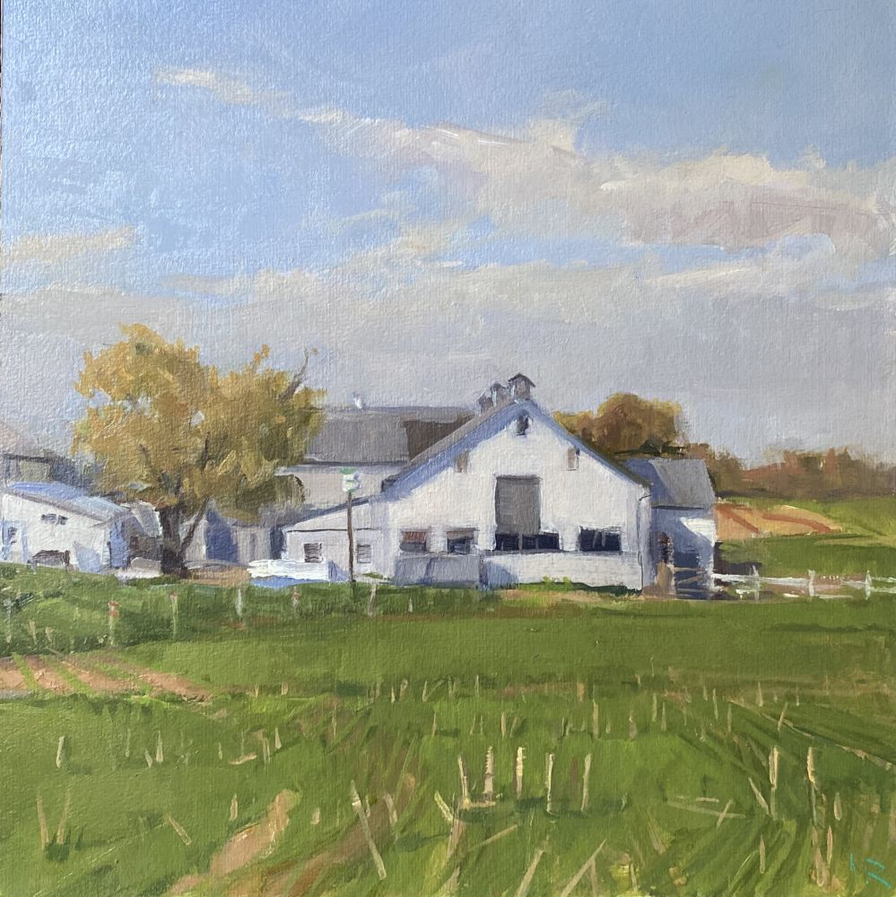 Jeff Reed, Fall Field, oil on panel, 9 x 9 inches