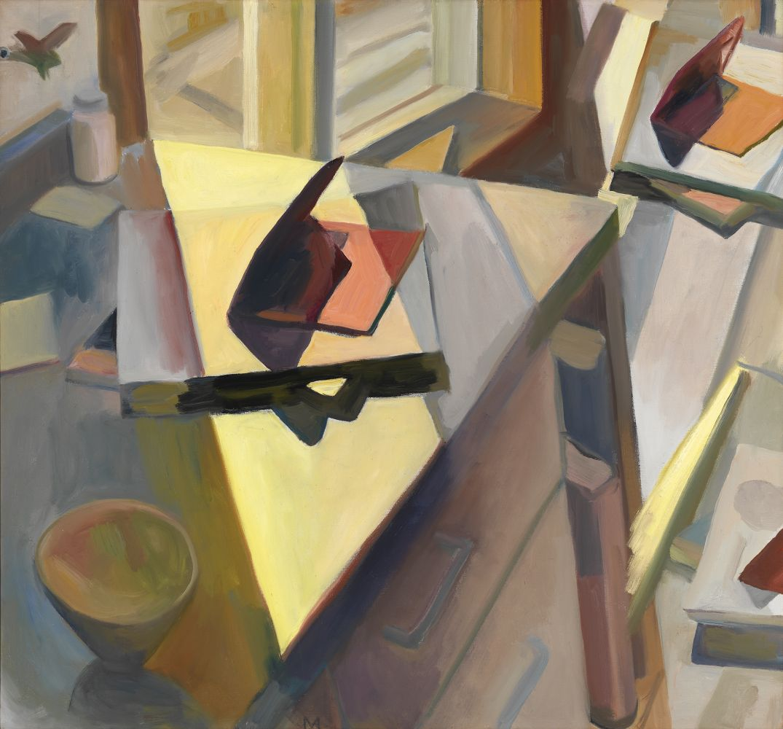 "Martha Armstrong, Triple Valentine 26"" x 28""  Oil On Canvas"