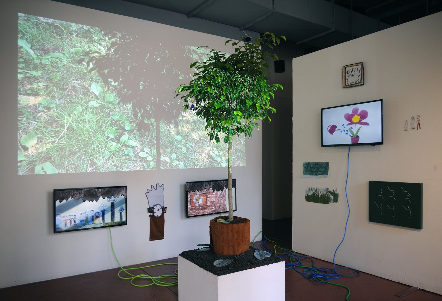 Mojdeh Rezaeipour, Stories We Tell Ourselves, 2020, Mixed media and video installation, Dimensions variable