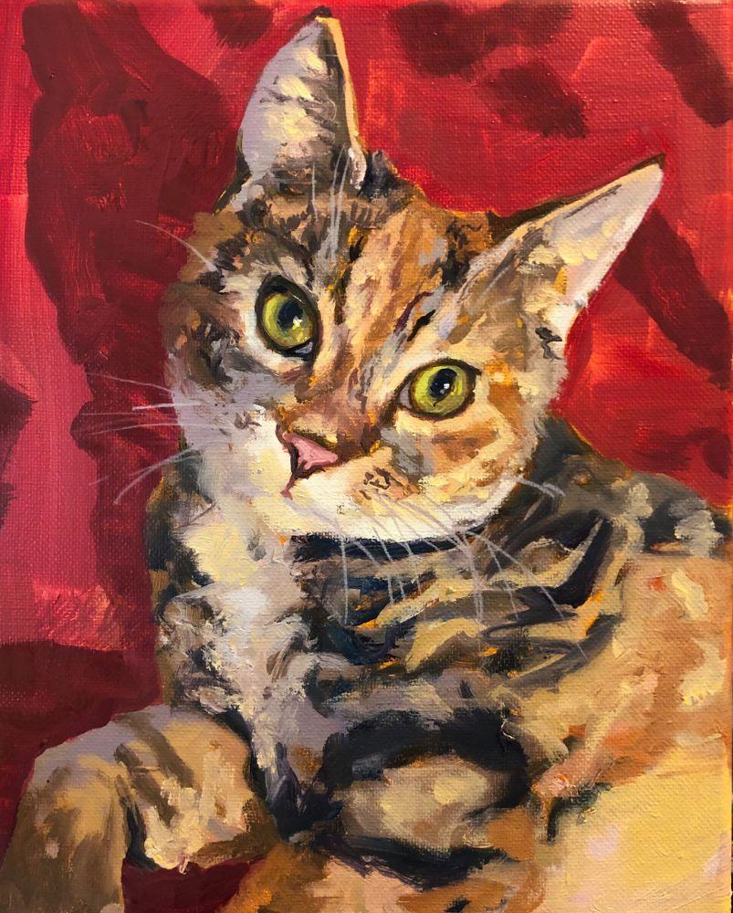 "Christina Leone, Marlee 10"" x 8""  Oil On Canvas"