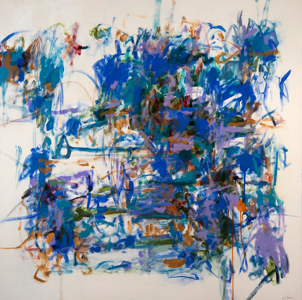 """Val Rossman, Explosive Growth 48"""" x 48""""  Acrylic On Aluminum"""