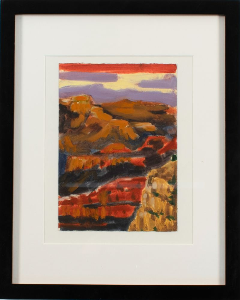 """Canyon Study   9"""" x 5""""  Oil On Paper"""
