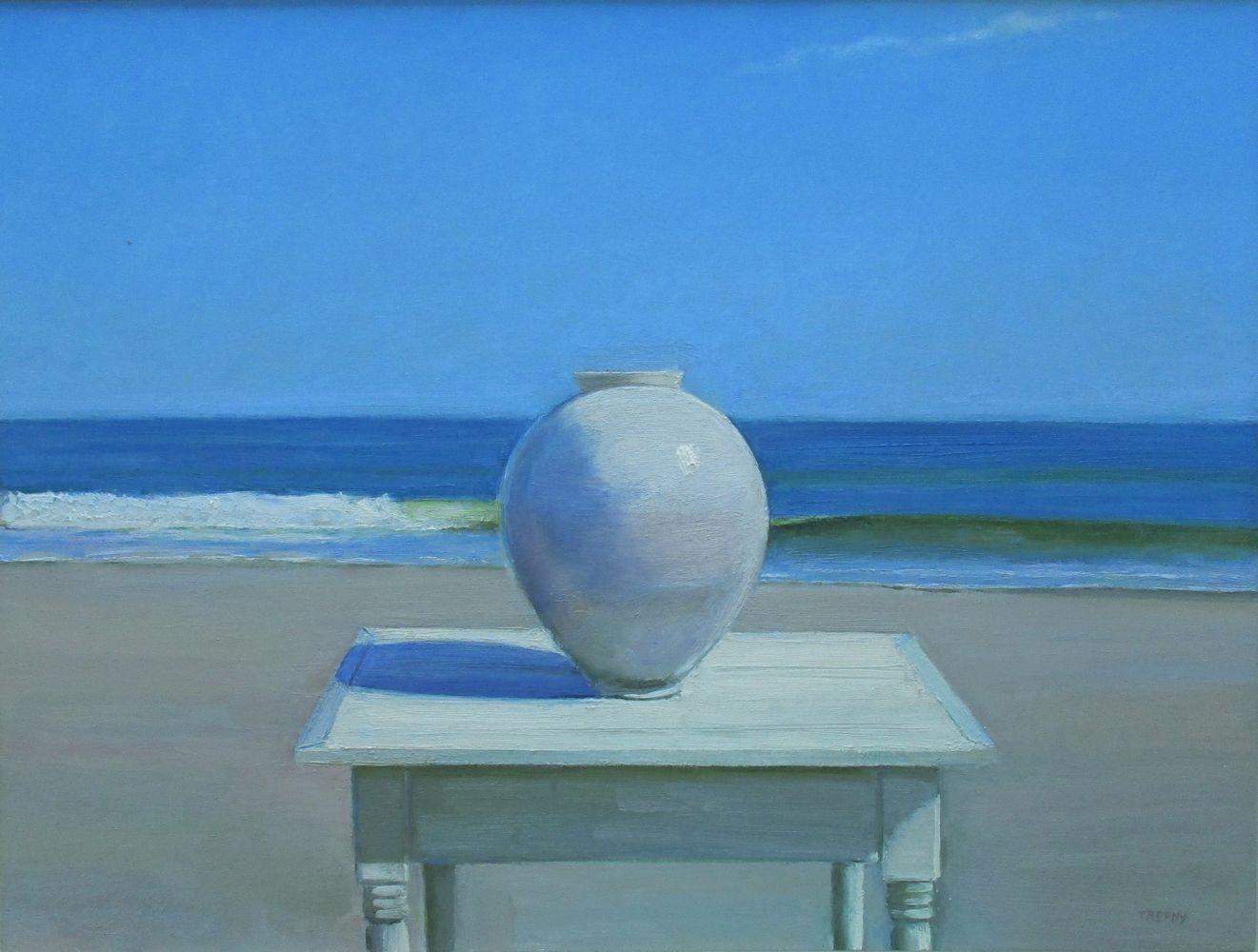 "Sandbar Moon Jar  24"" x 32""  Oil On Panel"