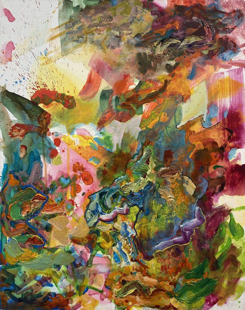 """The Mermaid's Rejoice  20"""" x 16""""  Oil On Canvas"""