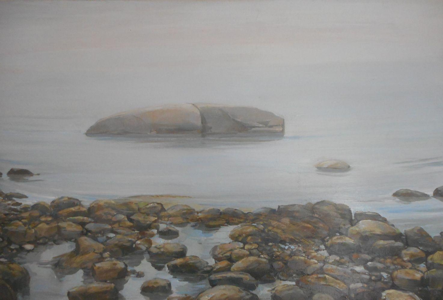"Whale Rock Fog II  16"" x 24""  Oil On Canvas"