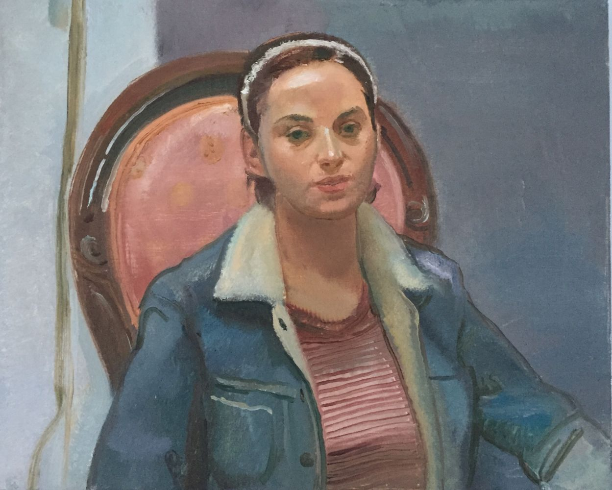 "Portrait of Katie  24"" x 30""  Oil On Linen"