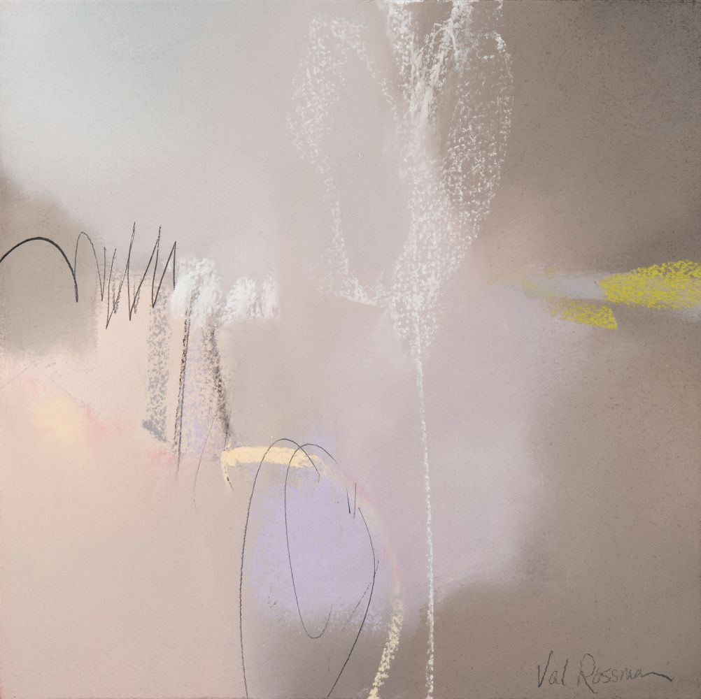 """Val Rossman, Elusive Thing To Do 10"""" x 10""""  Pastel"""