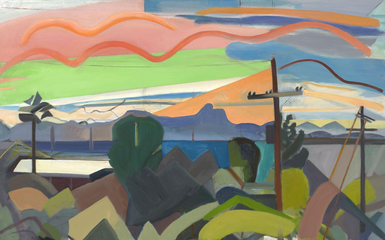 """Tucson Sunset  30"""" x 48""""  Oil On Canvas"""