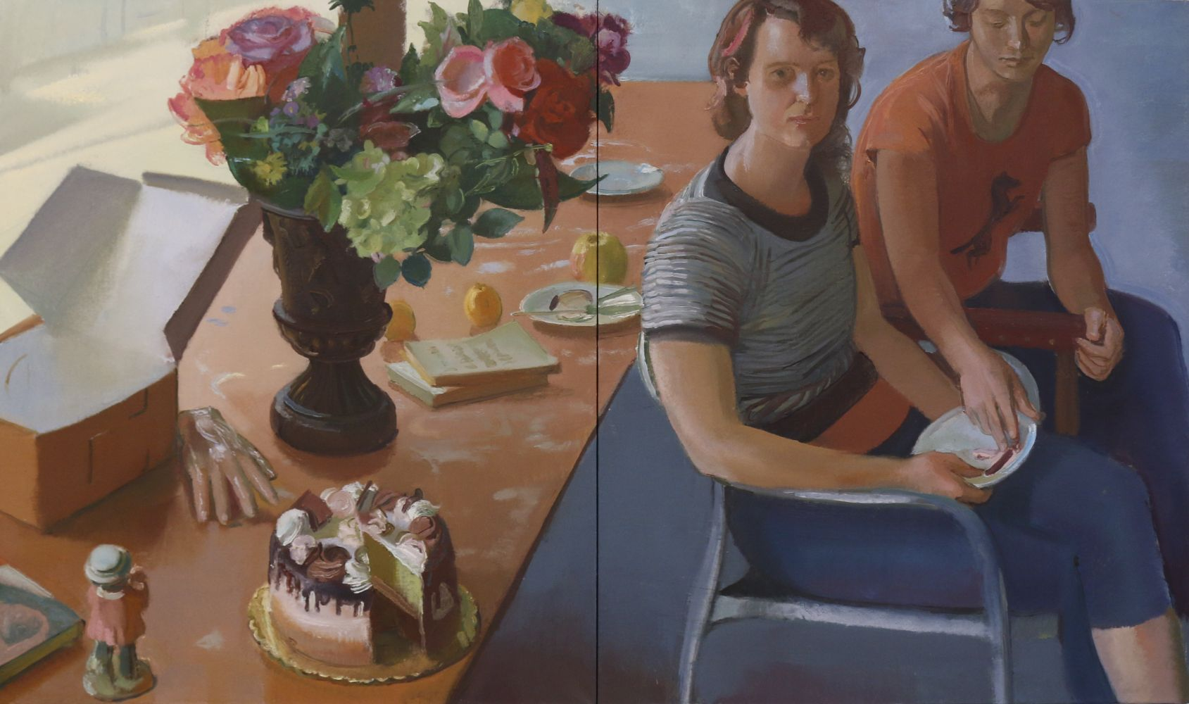 """The Cake that Survives Its Eating  34"""" x 62""""  Oil On Linen"""