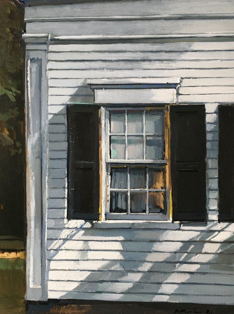 """Front Window  16"""" x 12""""  Oil On Board"""
