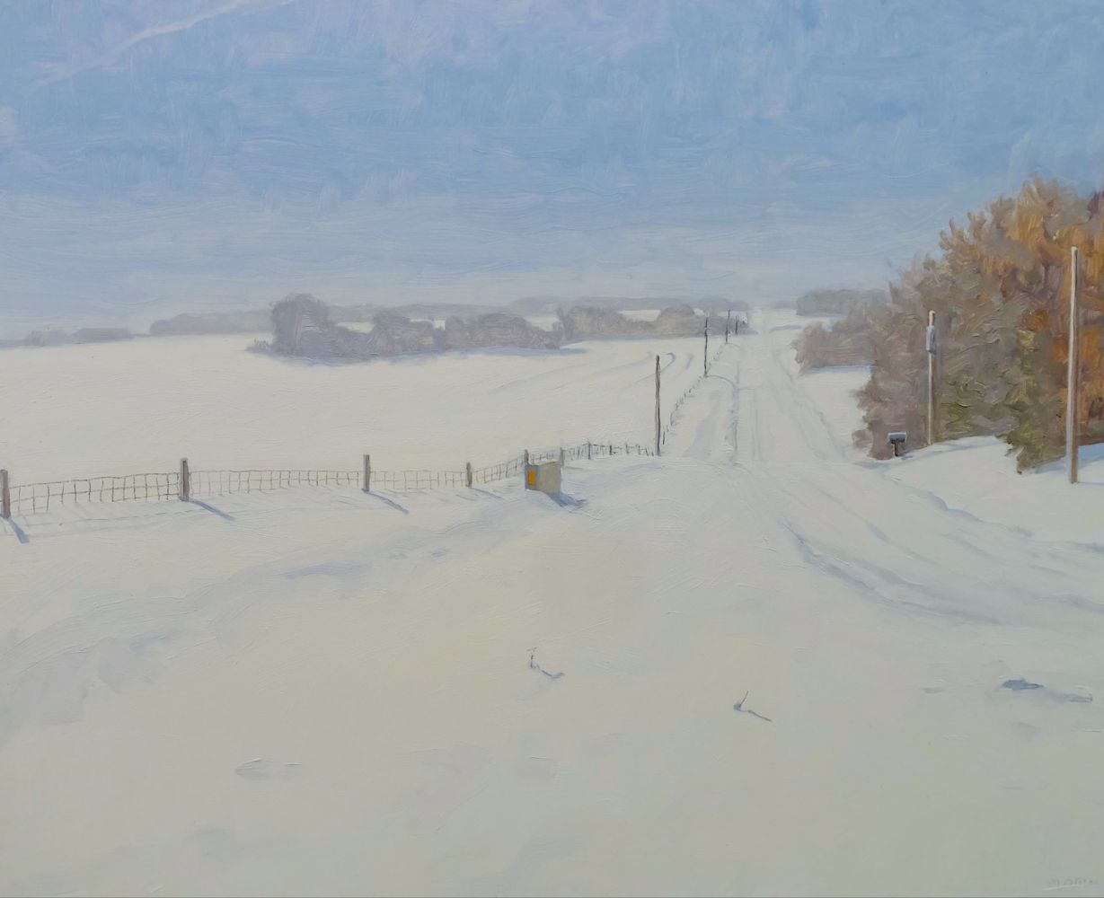 "Snowed In, Napton  16"" x 20""  Oil On Board"