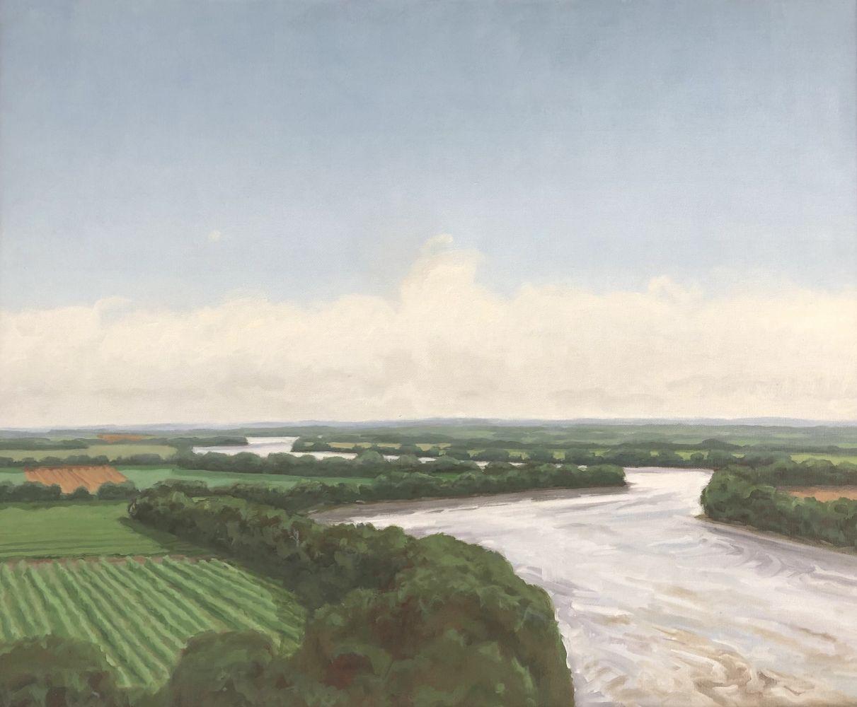 "Afternoon On The Missouri  26 x 32""  Oil On Canvas"