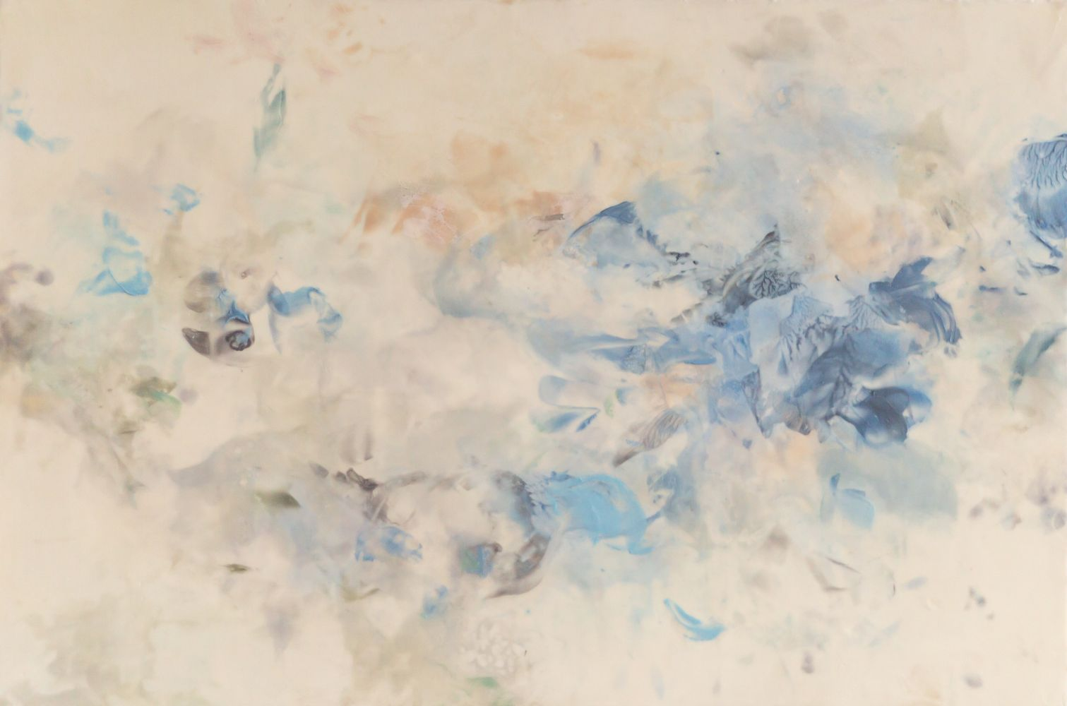 """Betsy Eby, Spirit II  24"""" x 36""""  Hot Wax, Cold Wax, Ink, Oil On Panel"""