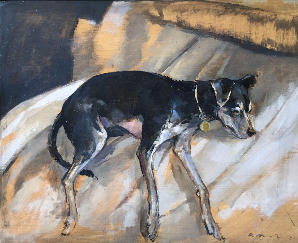 """Douglas Martenson, Banana Resting 11"""" x 14""""  Oil On Panel"""