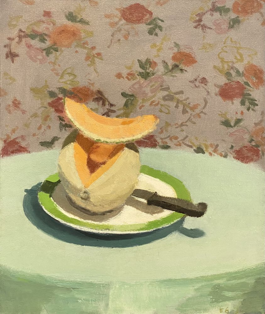 "Still Life With Melon  18"" x 15""  Oil On Linen"