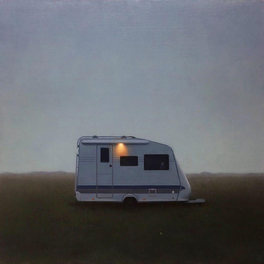 """Skaftafell, 36"""" x 36"""", Oil On Linen-Mounted Panel"""