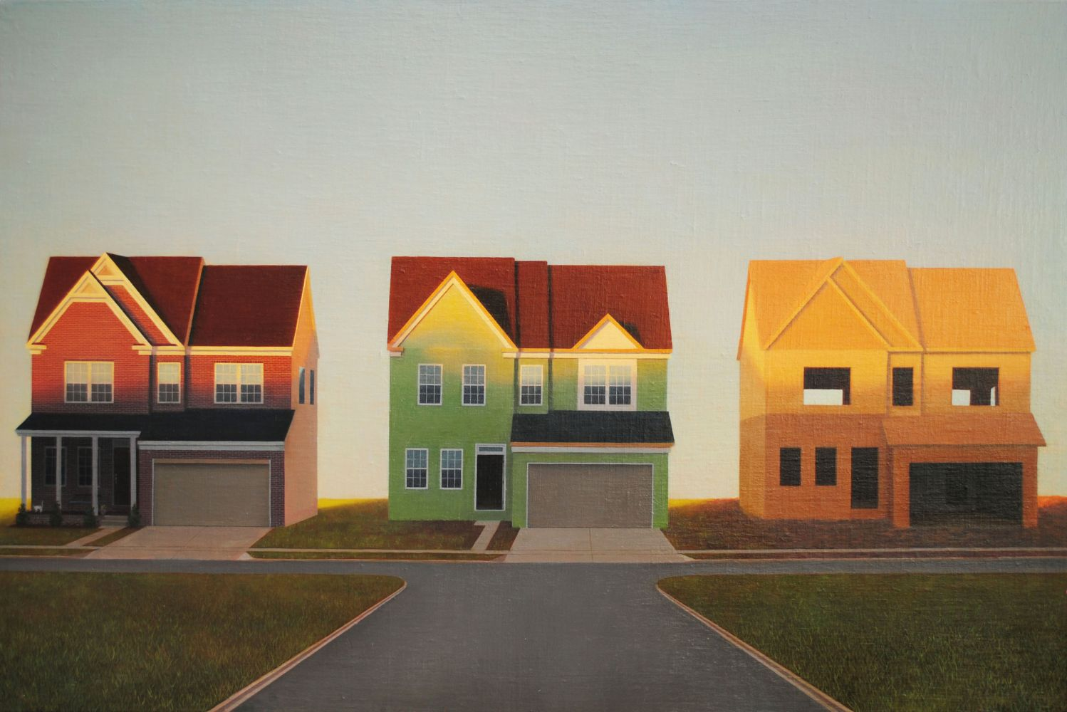 "Little Boxes  24"" x 36"" Oil On Linen-Mounted Panel"