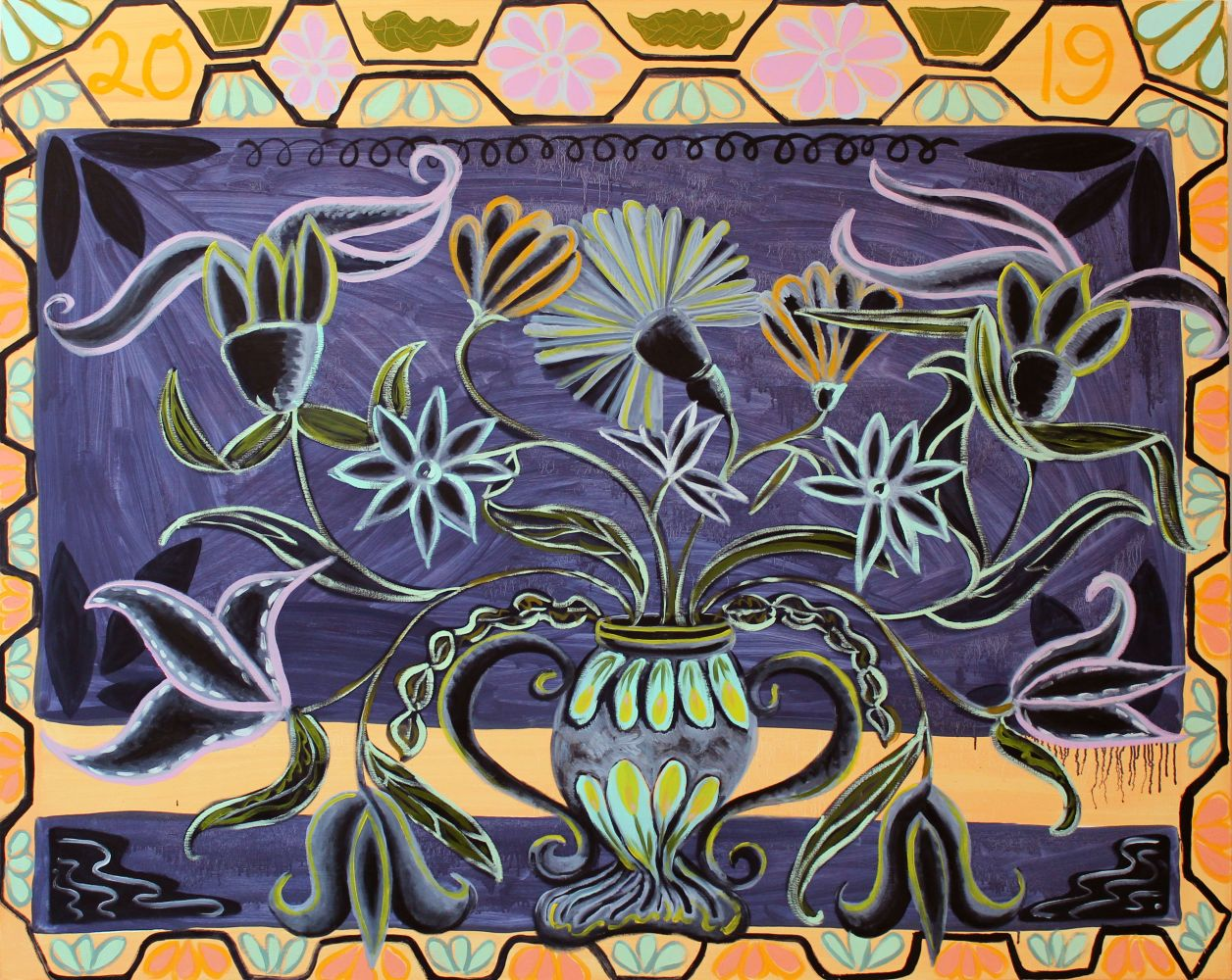 "Kati Gegenheimer, Centerpiece  48"" x 60""  Oil On Canvas"