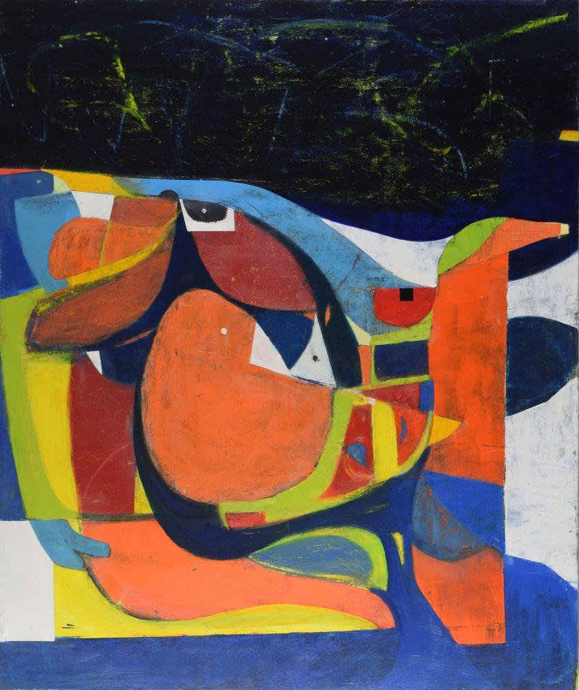 "Night Swan  40"" x 48""  Acrylic On Canvas"