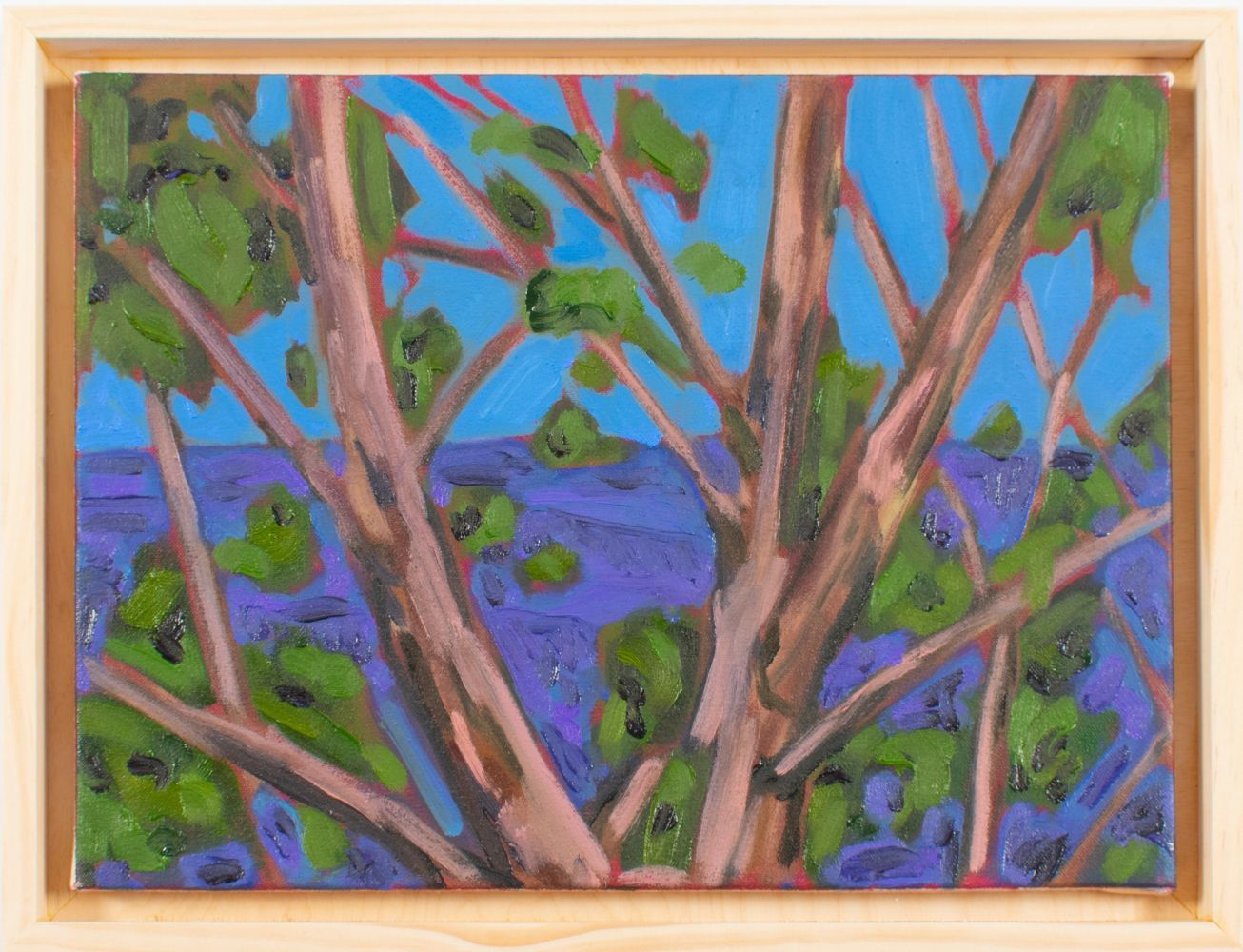 "Tree and View  12"" x 16""  Oil On Canvas"