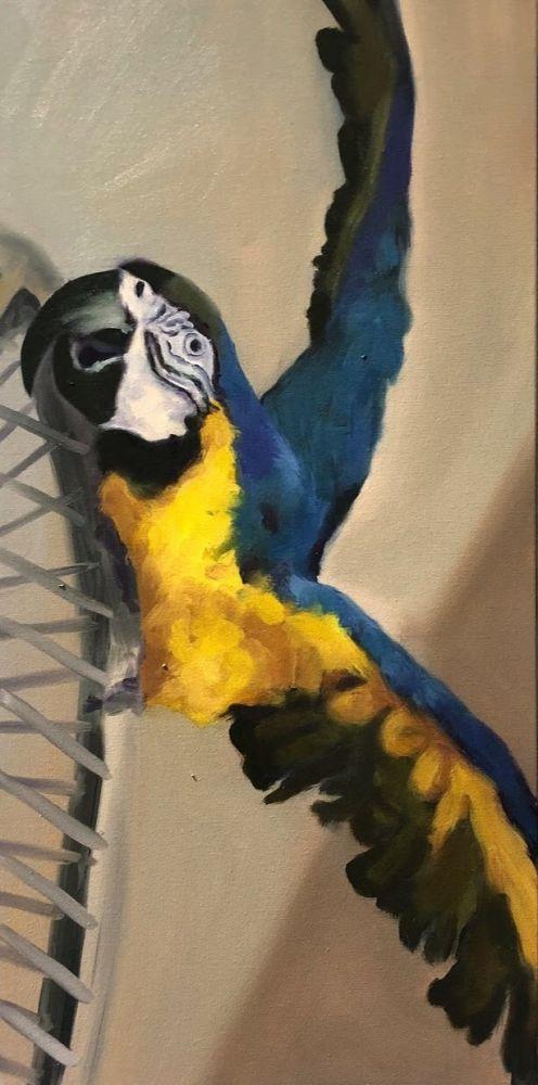 "Christina Leone, Soaring 12"" x 24""  Oil On Canvas"
