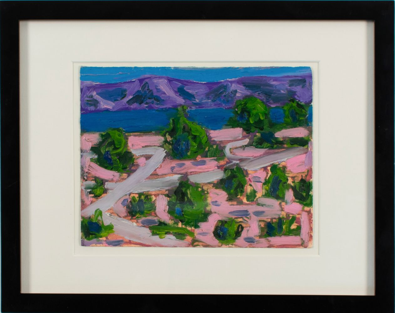 """Lakeview  6"""" x 8""""  Oil On Paper"""