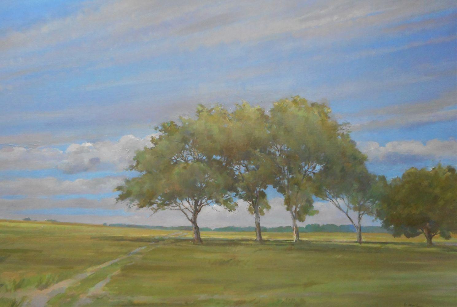"Path  30"" x 44""  Oil On Canvas"