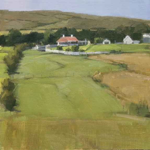 """Jeffrey Reed, Portacloy Field 8"""" x 8""""  Oil On Canvas Mounted On Panel"""