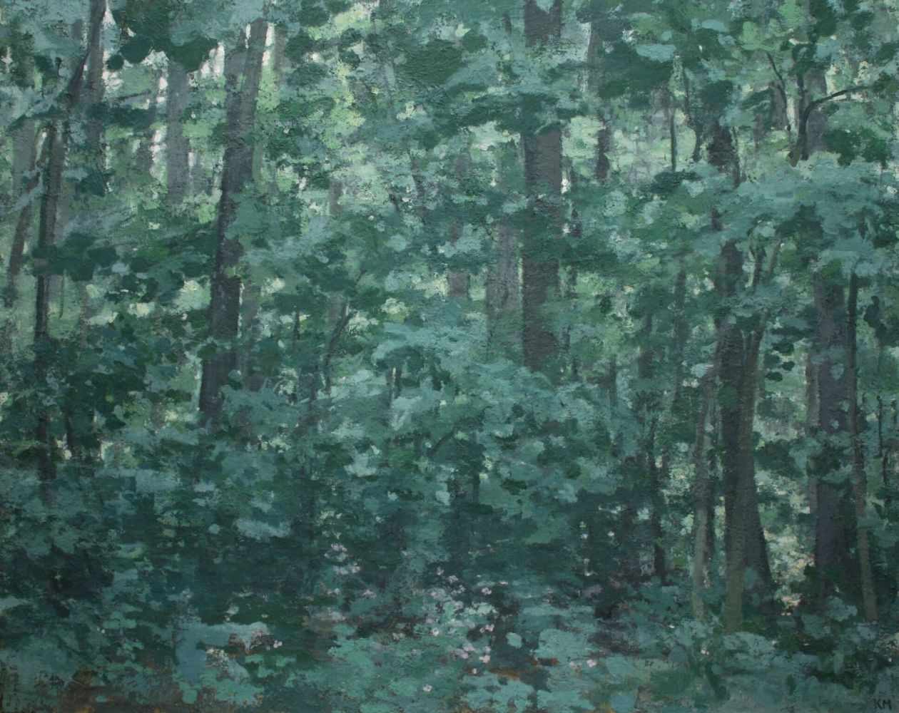 "The Forest  64"" x 80""  Oil On Linen"