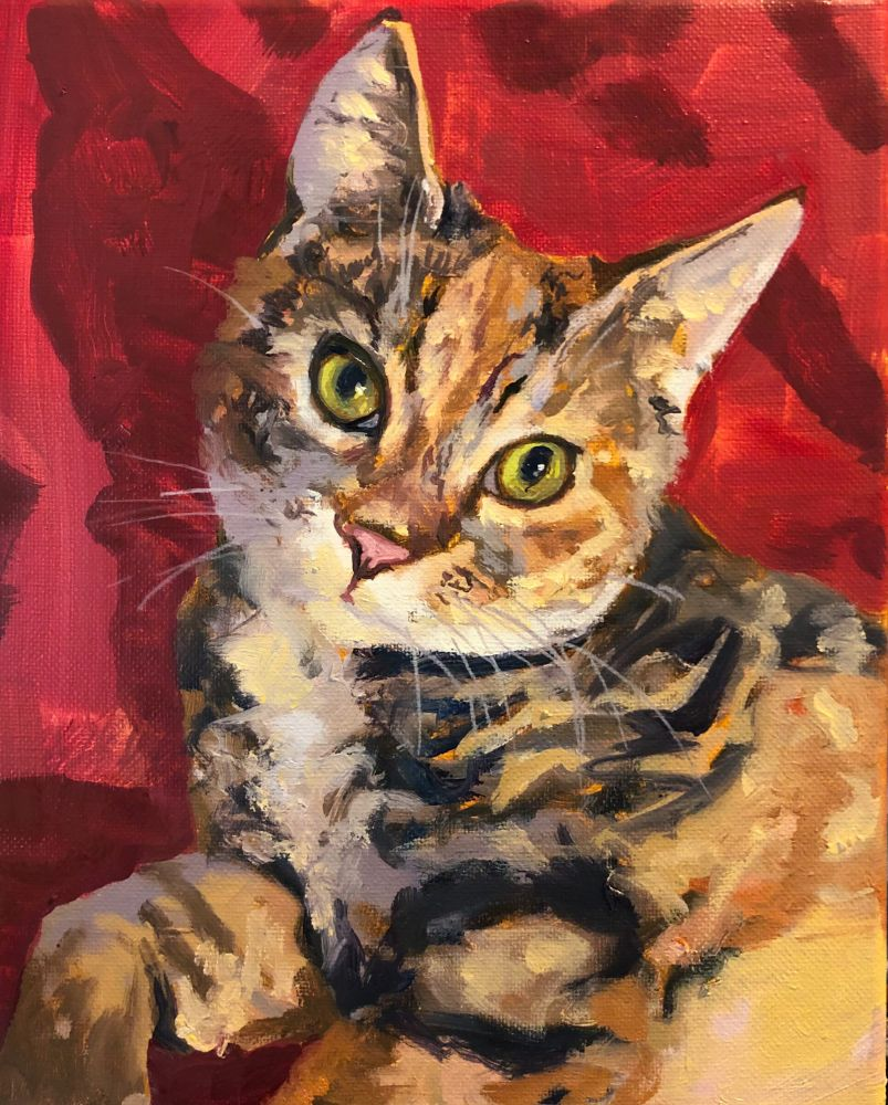 """Marlee (SOLD)  10"""" x 8""""  Oil On Canvas"""