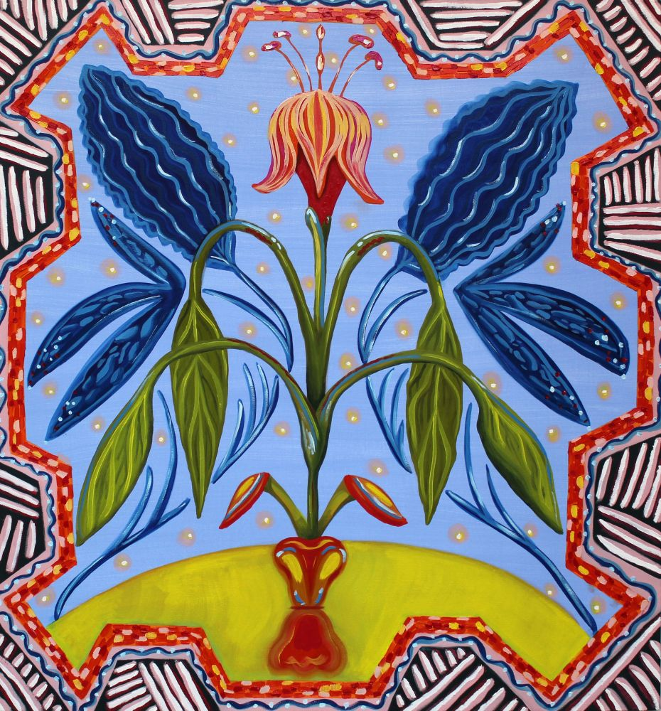 "Kati Gegenheimer, In Bloom  45"" x 42""  Oil On Canvas"