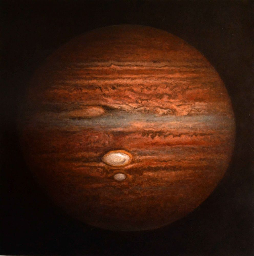 "Jupiter  60"" x 60""  Oil On Panel"