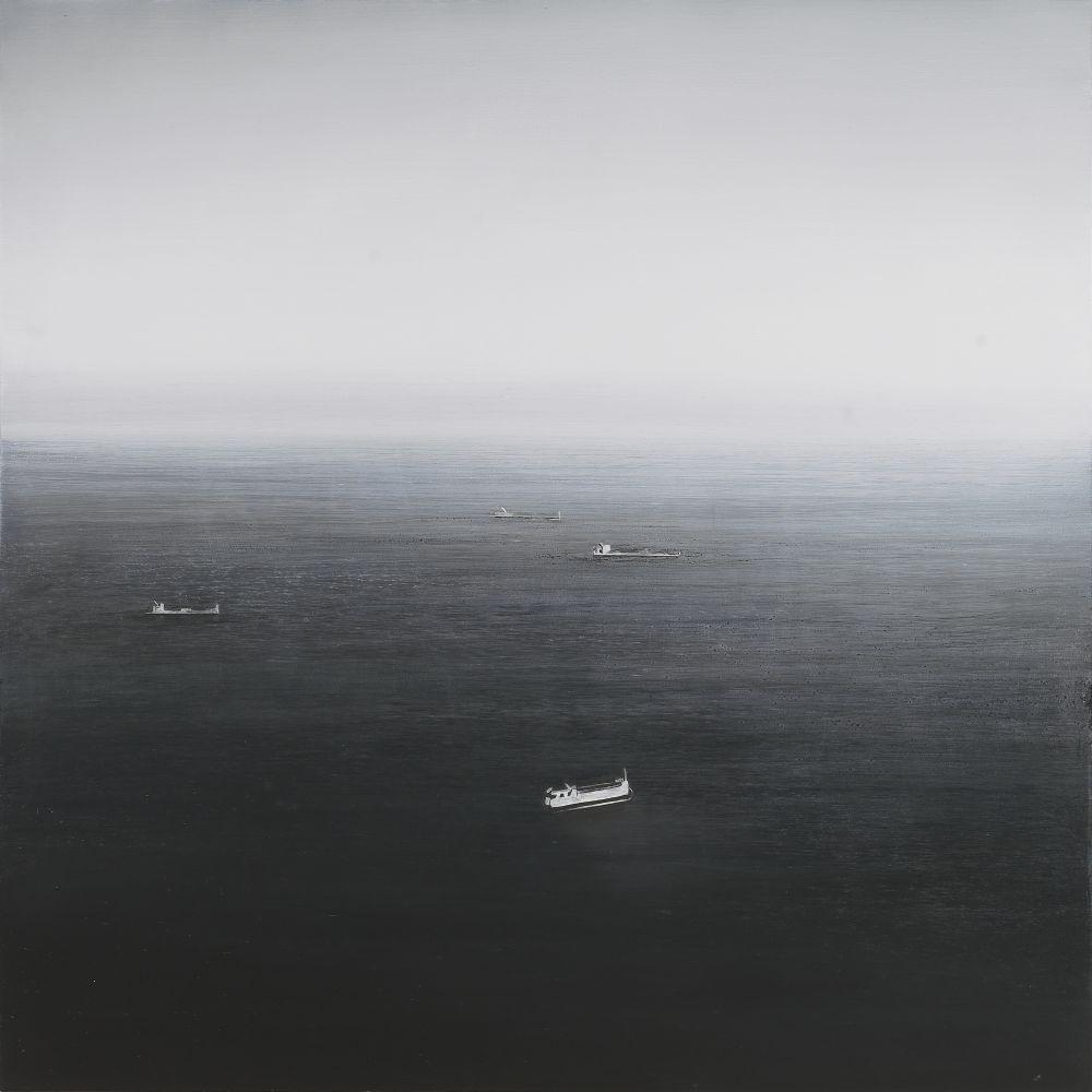 "Ocean View, Malibu  30"" x 30""  Oil On Wood"