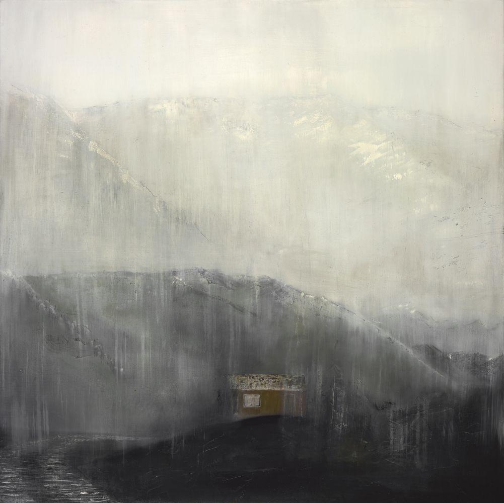 "Rhea Cutillo, The Watchpost 38"" x 38""  Oil On Canvas"