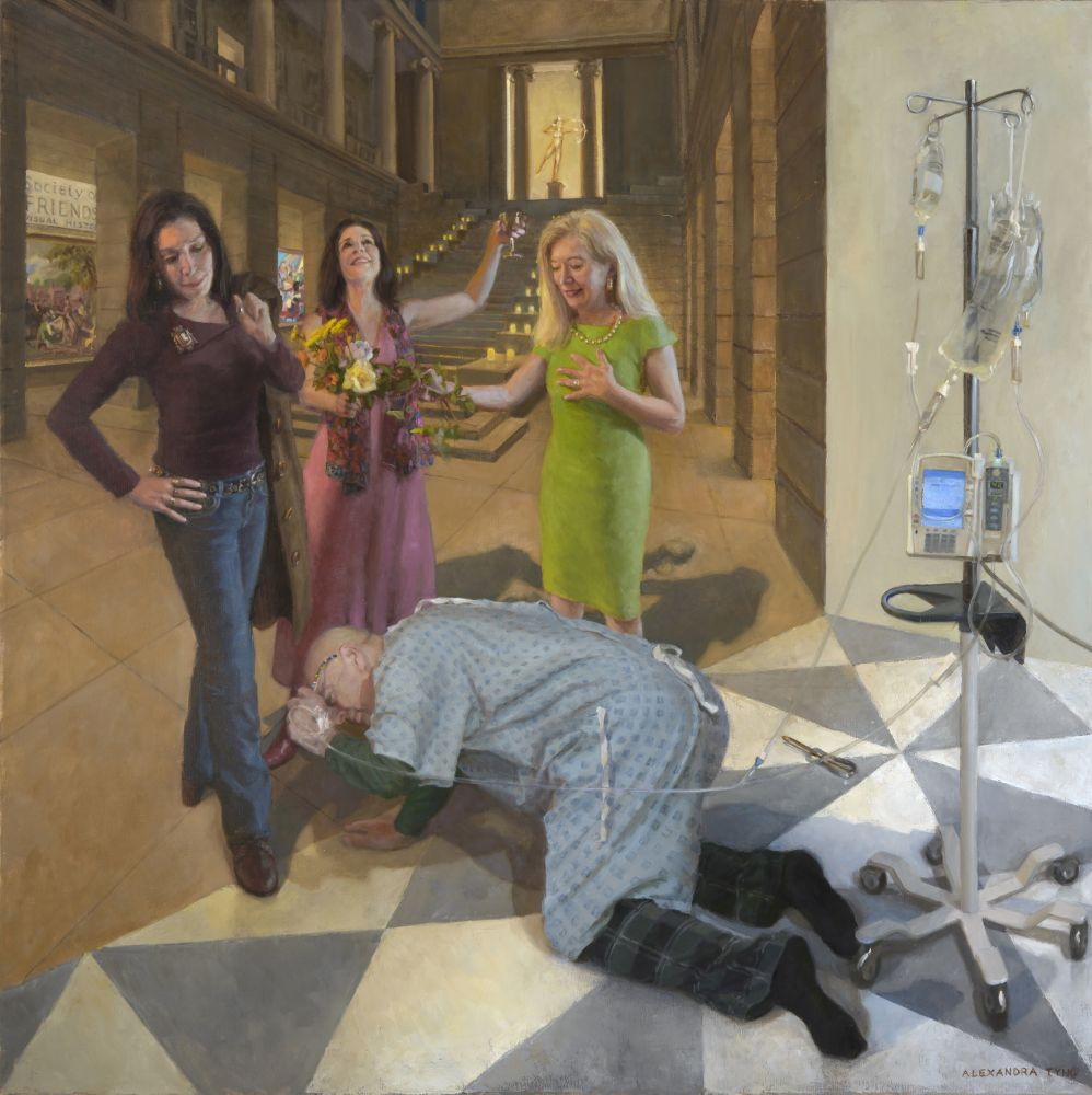 "The Architecture Of Connection  50"" x 50""  Oil On Linen"