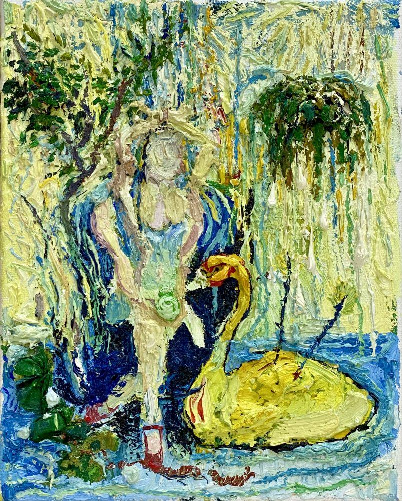 "Dancer With Swan  10"" x 8""  Oil On Linen"