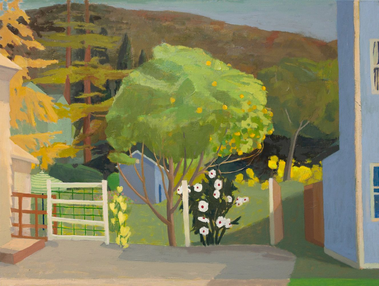 Celia Reisman, Halfway Hartford, oil on canvas, 24 x 32 inches