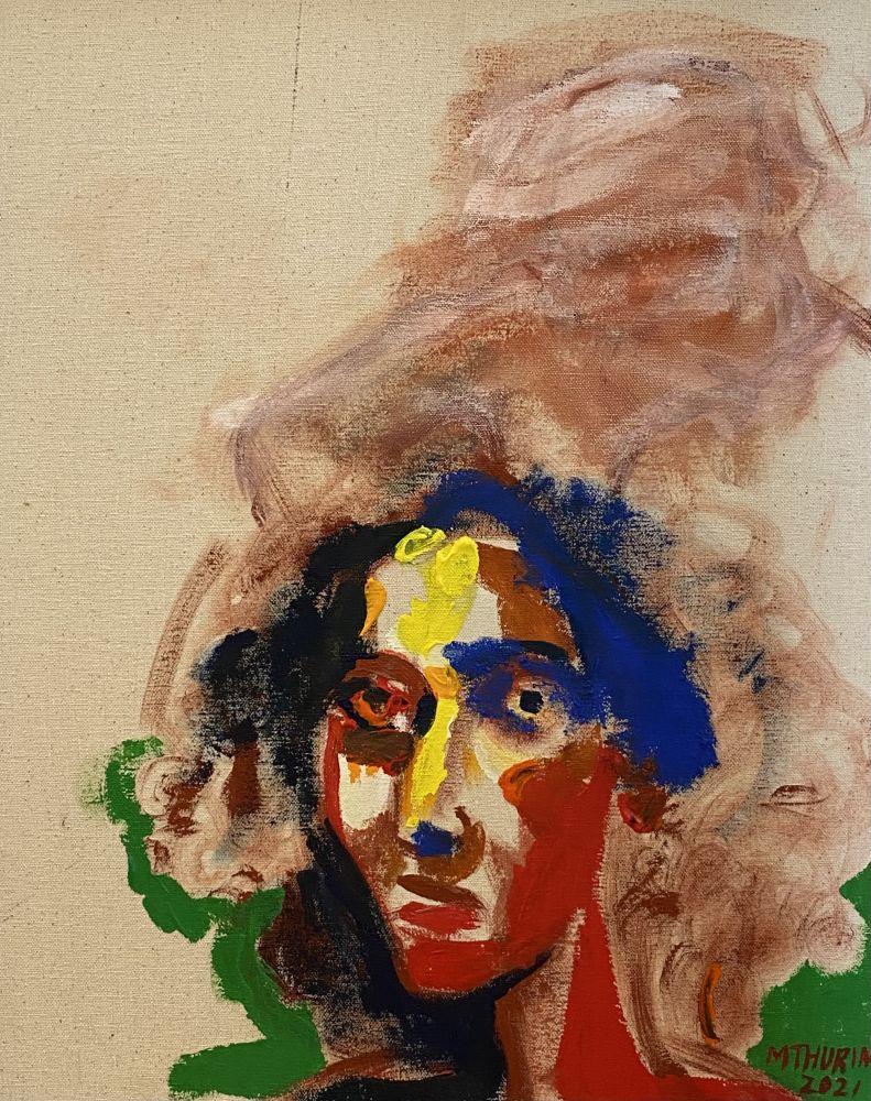 """Salimah  20"""" x 16""""  Acrylic On Canvas"""