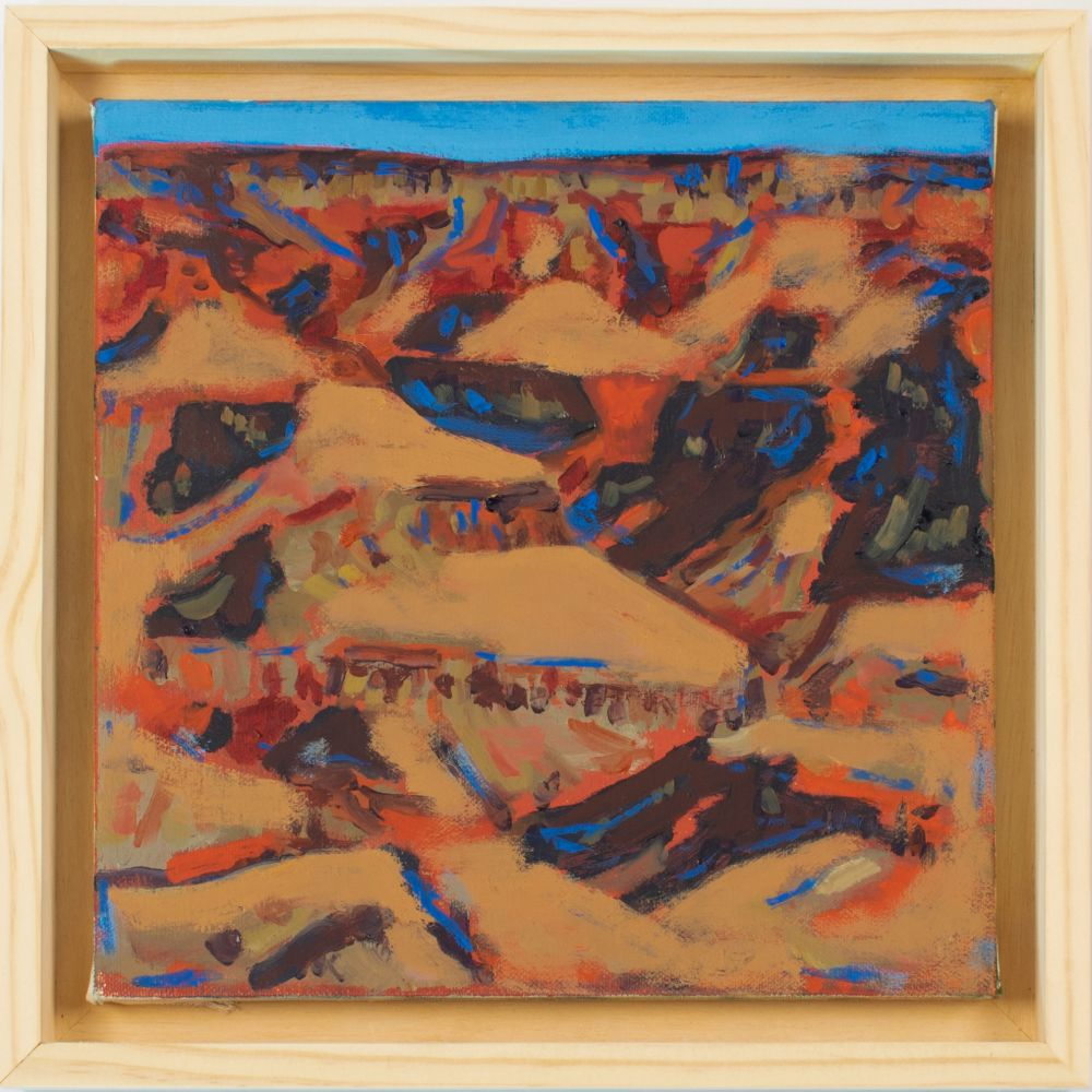 """Canyon  10"""" x 10""""   Oil On Canvas"""