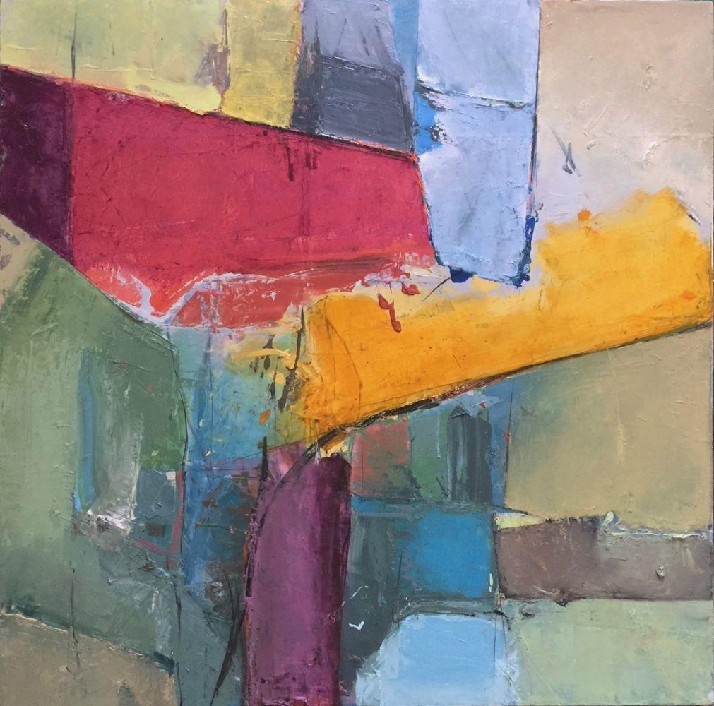 """Ajar  36"""" x 36""""  Oil On Canvas"""