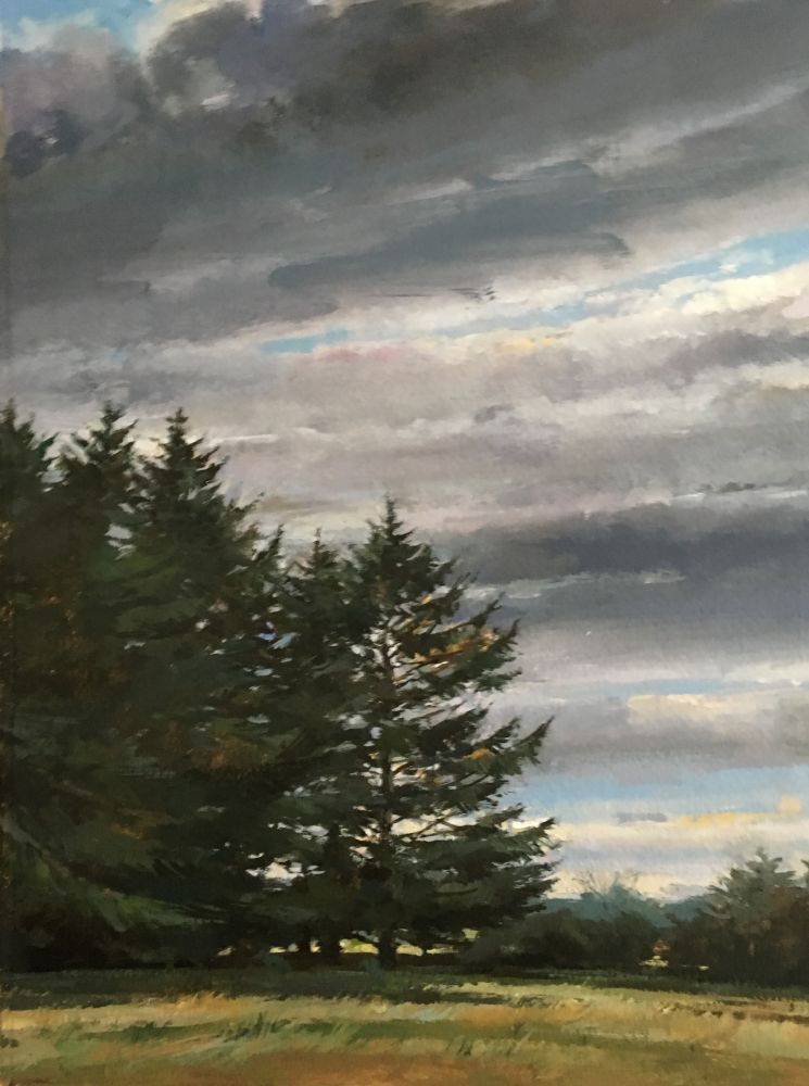 """Edge Of The Woods  15"""" x 11""""  Oil On Board"""