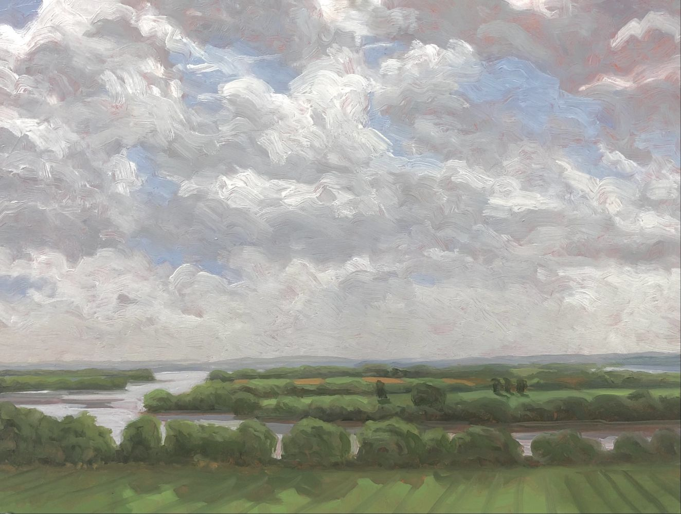 "Missouri Bottomlands  22"" x 16""  Oil On Panel"