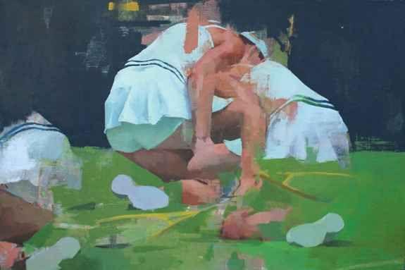 "Crumple  24"" x 36""  Oil On Canvas"