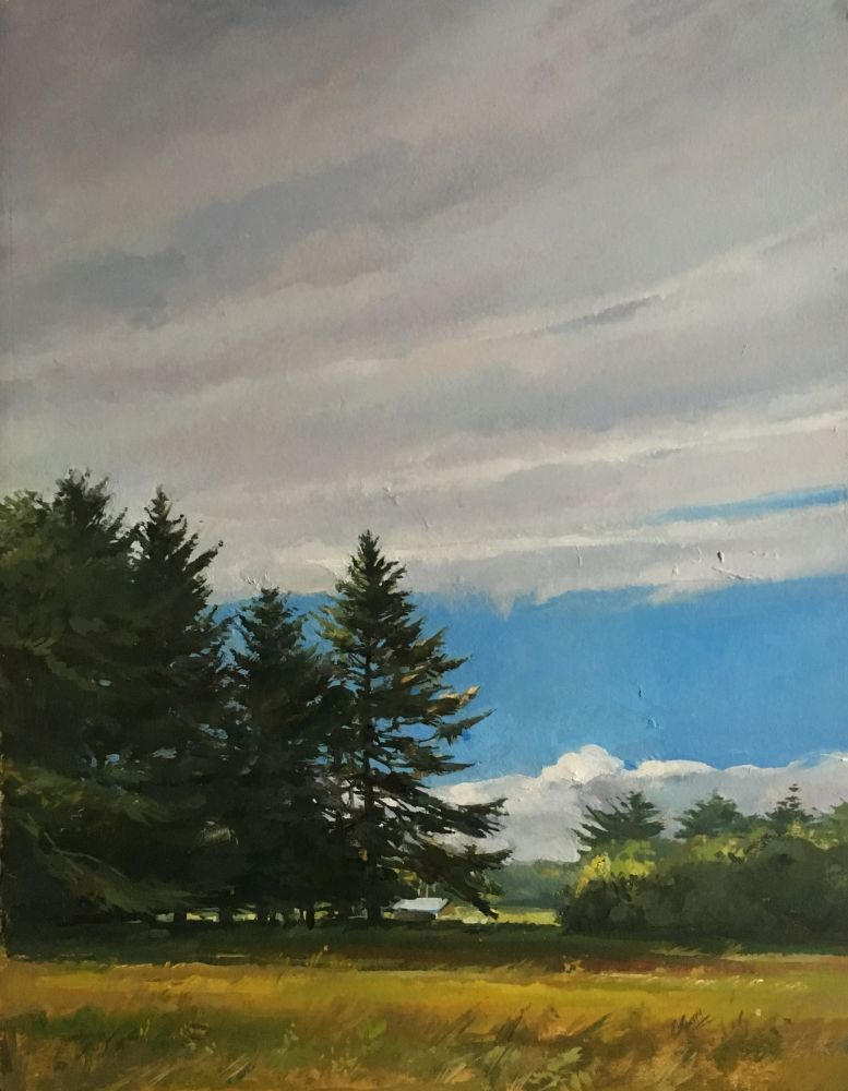 """Late Afternoon  15"""" x 11""""  Oil On Board"""